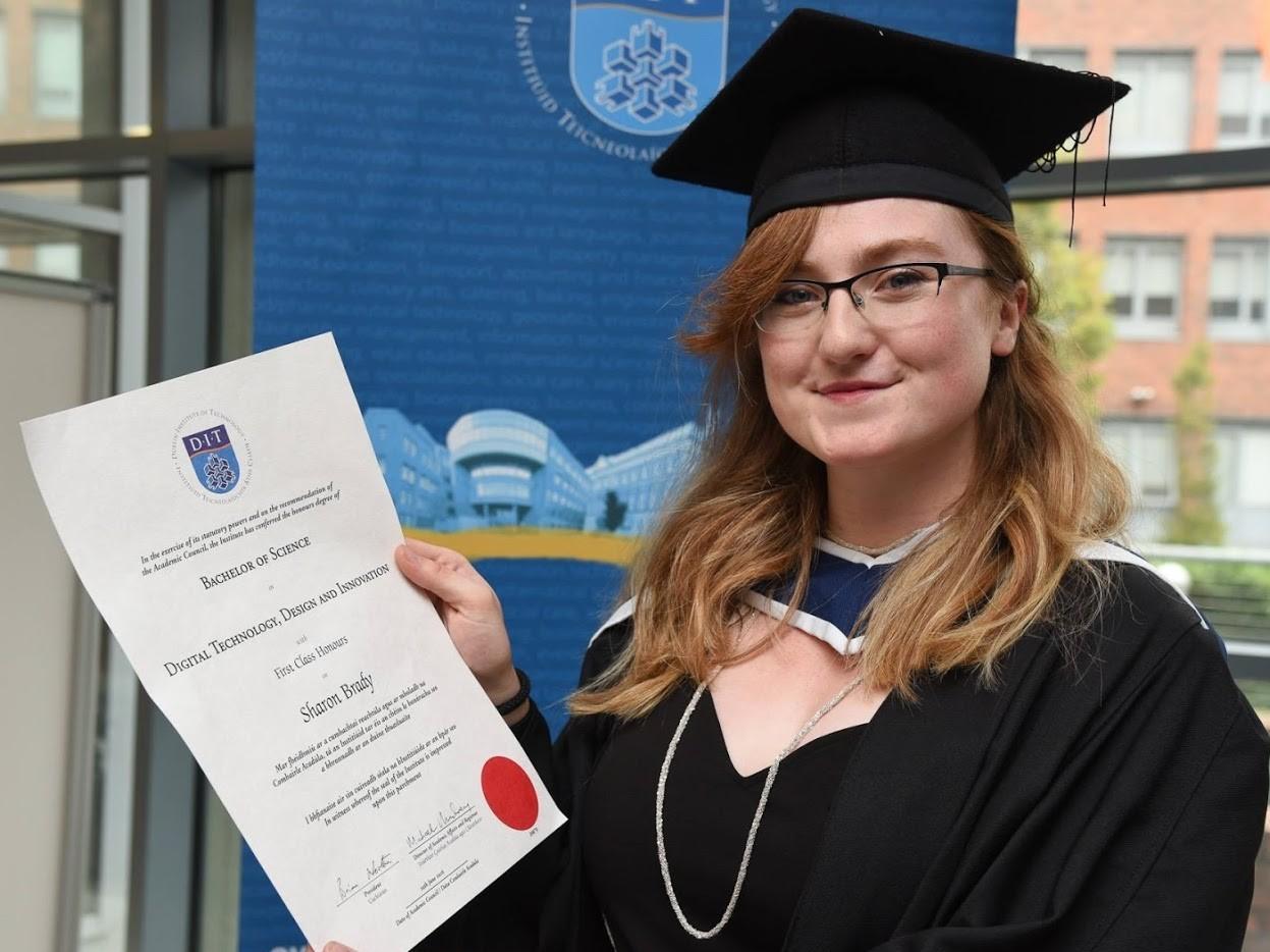 Graduate Sharon Brady: Designing a New Digital Career Path